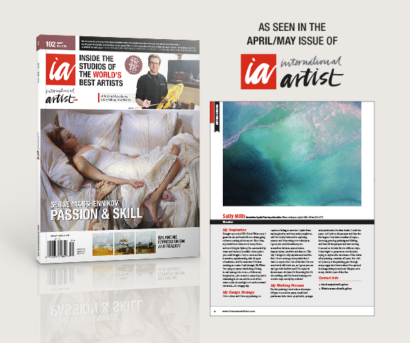 International Artist Magazine Issue April-May  2015 Featuring Sally Mills